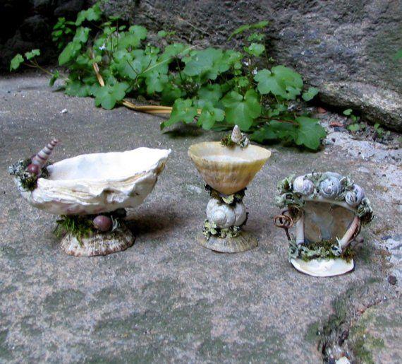 Fairy bathroom set made from shells
