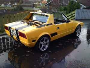 Fiat X19...my mom had one of these...fun to cruise Lake Nokomis in when I was in high school.