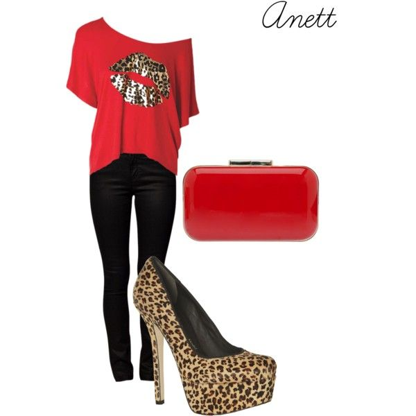 """Untitled #18"" by anett-keberlova on Polyvore #polyvore #outfit #leopard #red #alloy #saab #eliesaab #aliceandolivia"