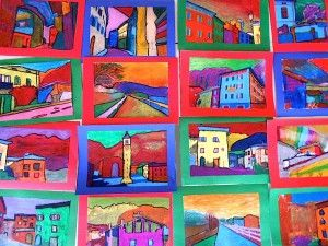 Andre Derain inspired landscapes from photos of students community...genius!