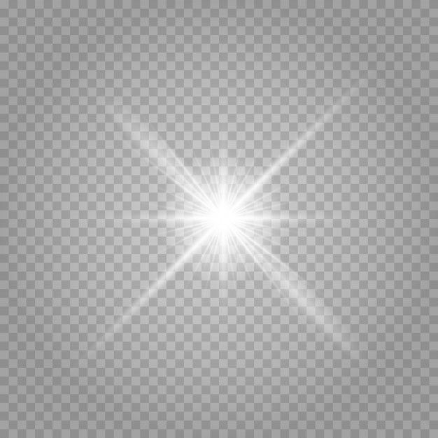 Bright Star Transparent Shining Sun Bright Flash Sparkles Vector Illustration Sparkle Png Borders For Paper Shining Star