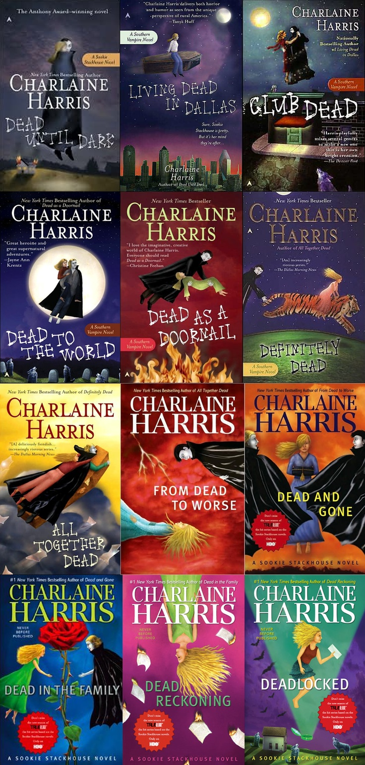 Sookie Stackhouse Series ~ Charlene Harris. Last book came out yesterday, cannot wait to read it!