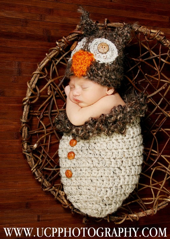 Owl baby! My next project for the new baby's first halloween costume.