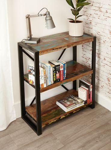 Urban Chic Low Bookcase #furniture #home #interior #decor #livingroom #lounge #bedroom #hallway #boho #bohemian #shabbychic #urban #contemporary #bookcase #books #lamp #storage #plant