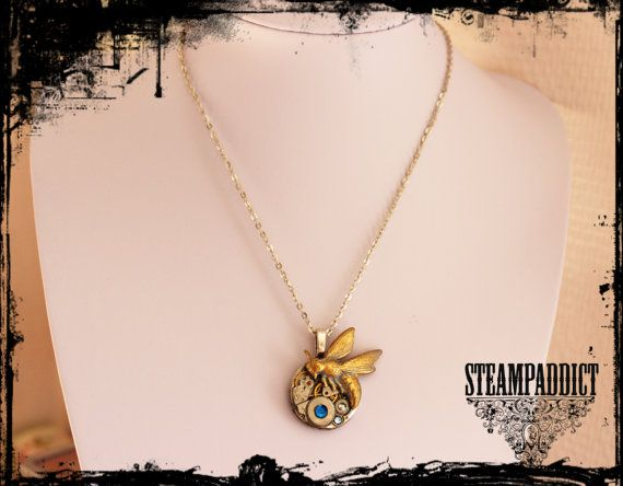 Collier Abeille Sublime collier Steampunk par ChezLaPetiteSouris