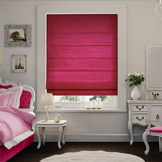 Samite Shocking Pink Roman Blind