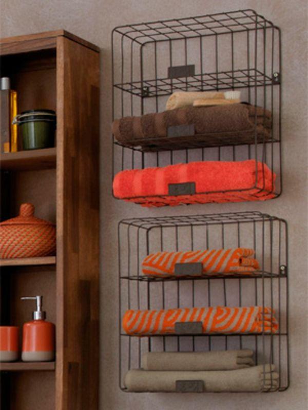 Les 25 meilleures id es de la cat gorie rangement de for Porte serviette original