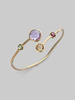 Marco Bicego - Semi-Precious Multi-Stone & 18K Gold Overlapping Bracelet