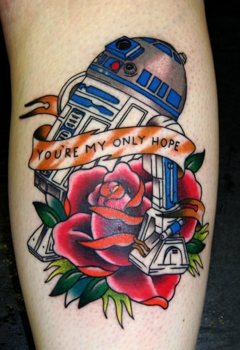 Had to pin this one for my 3 yr old. She's a HUGE R2-D2 fan. Already asking for her first tattoo.