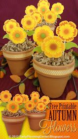 Party Planning Center: Free Printable DIY Fall Paper Flowers