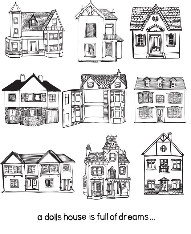 Line Art Dollhouse : Best images about dollhouse on pinterest coloring