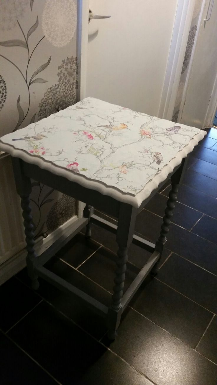 Lamp table designed by truly unique shabby chic Lynda Robinson lyn644@hotmail.com