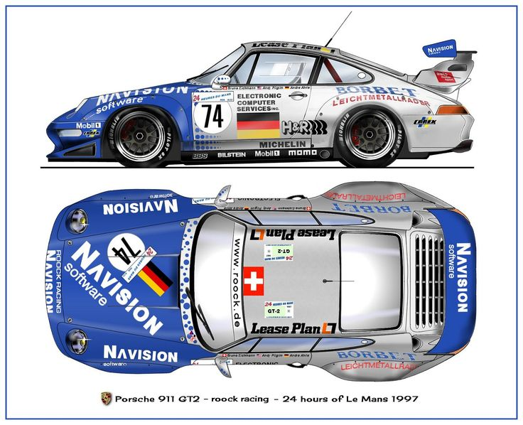 Porsche GT-2 1997 (Fixed side view -added top view) https://plus.google.com/+JohnPruittMotorCompanyMurrayville/posts