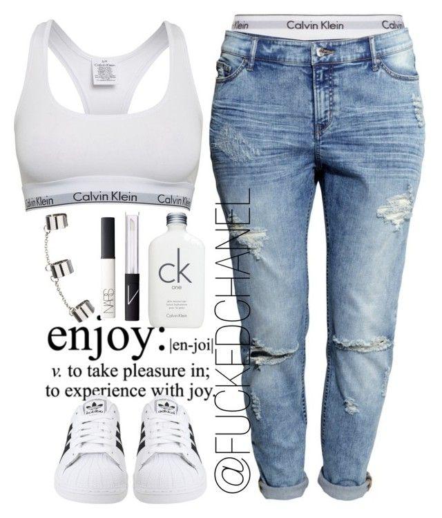 • Inspired by Rita Ora. by fuckedchanel on Polyvore featuring polyvore, moda, style, H&M, Calvin Klein, Calvin Klein Underwear, adidas Originals, Topshop, NARS Cosmetics and ritaora