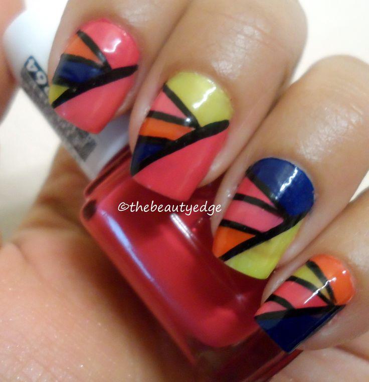 Trendy Color Blocking Manicure: Manicures Mania, Blocks Nails, Colorblock Manicures, Trendy Colors, Trendy Colorblock, Blocks Manicures, Colourblock Manicures, Colors Blocks, Beautiful Trends