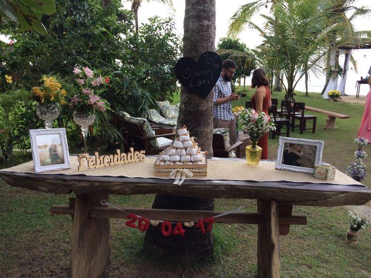 decoração casamento ao ar livre, rústico 😍