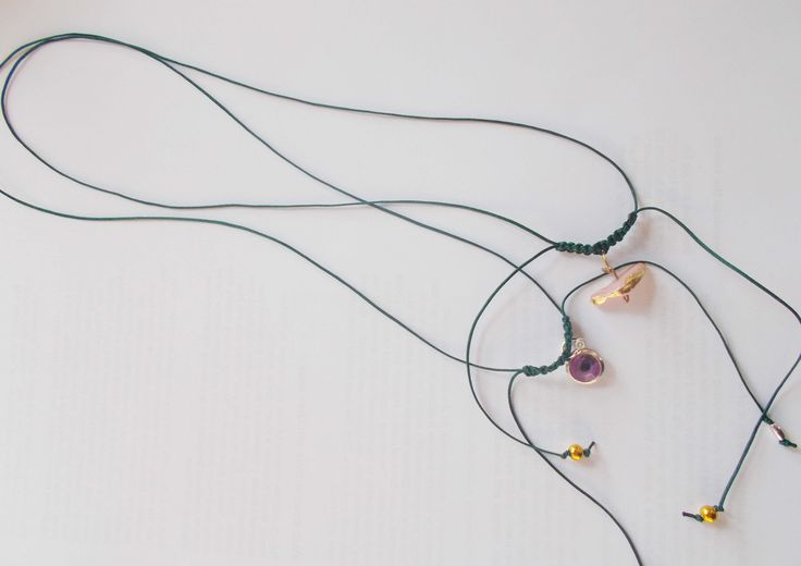 ~New christmas jewelry collection~handmade cord necklaces evil eye, little shiny stones with gold leaf by mademeathens #necklaces Soon on my etsy shop!