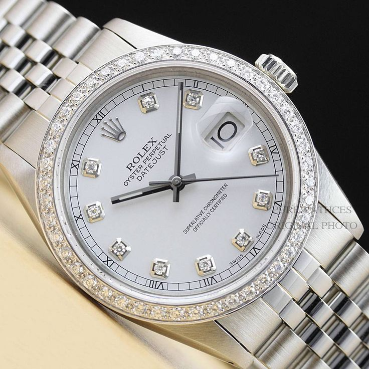 mens rolex 16014 datejust 18k white gold ss white diamond dial mens rolex 16014 datejust 18k white gold ss white diamond dial men s rolex watches w diamonds white diamonds rolex and men s rolex