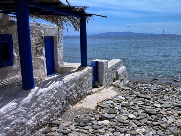 Isternia beach in Tinos island