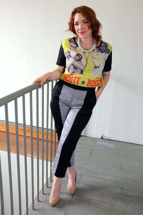 Black and Silver Trousers