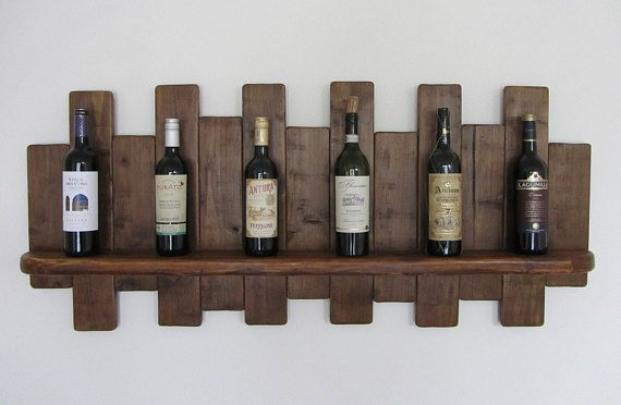 117cm große Reclaimed Palette Holz schwebenden Regal / Wein
