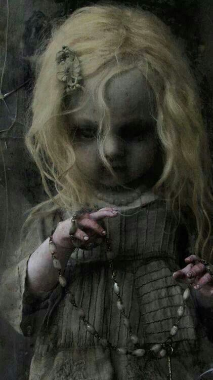 Creepy doll to some. I think your beautiful. I can look at her without nightmares.