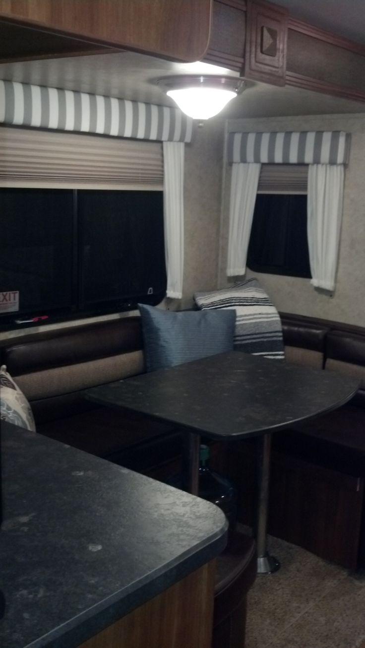Camper window treatments - New Booth Window Treatments