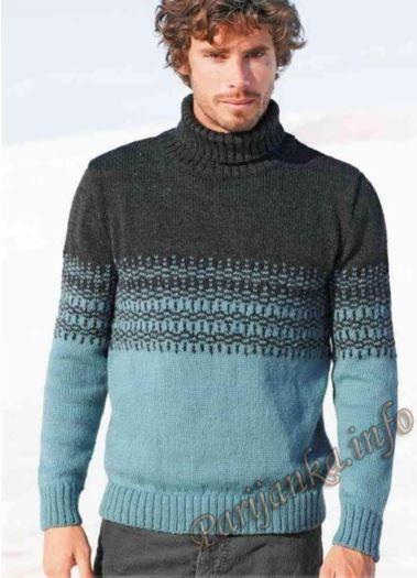 Мужской свитер с оленями схема 100