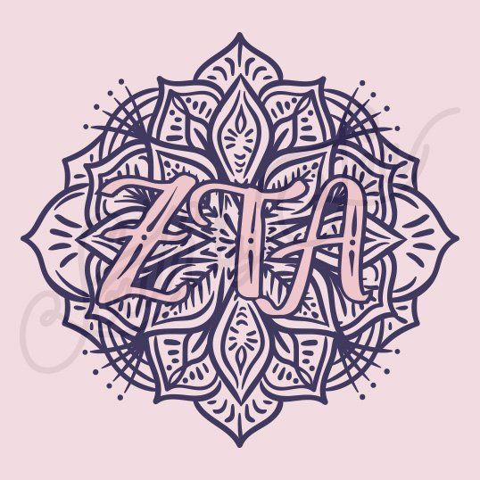Sorority Recruitment Zeta Tau Alpha Mandala Pattern South by Sea