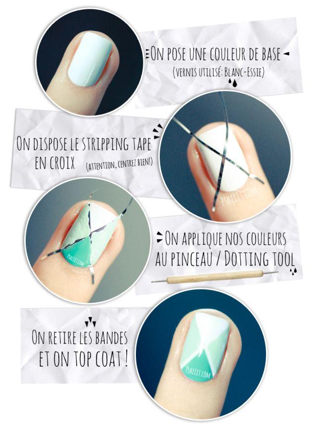 (Tuto Nail art facile) Nail art aux couleurs de printemps