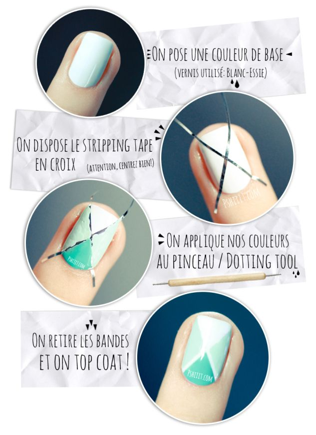 (Tuto Nail art facile) Nail art aux couleurs de printemps