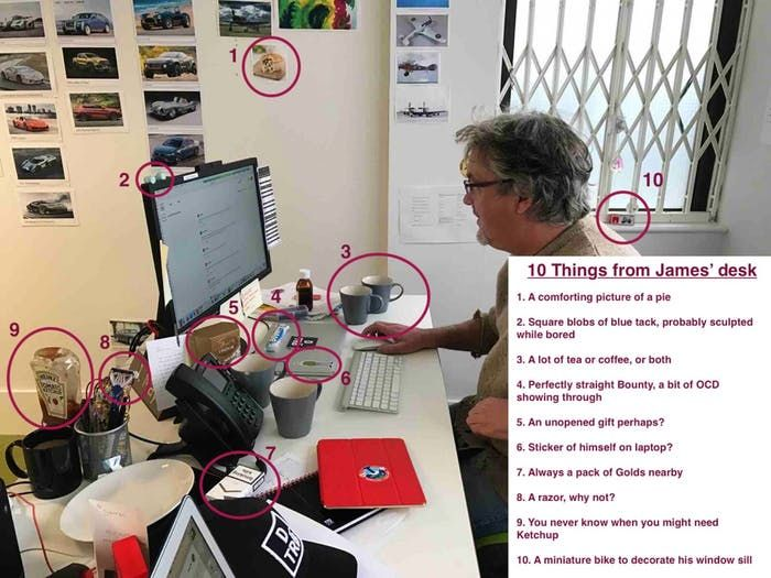 James May's Desk