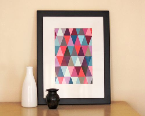 Make mod artwork from (free!) paint chips. diy art