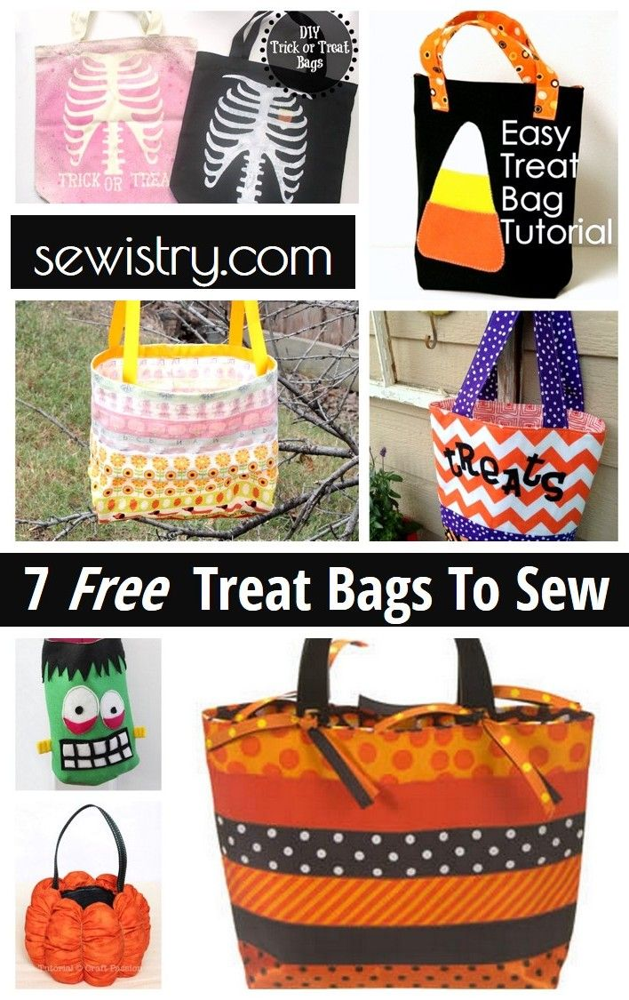 15 best Trick or Treat Bag tutorials images on Pinterest