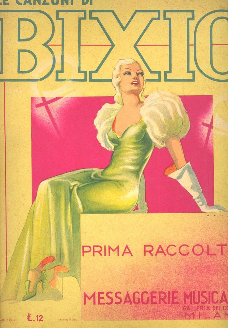 """Cover of songbook """"Le Canzoni di Bixio - Prima Raccolta"""" [Bixio's Songs - First Collection], published by Messaggerie Musicali (Milan) in 1937."""