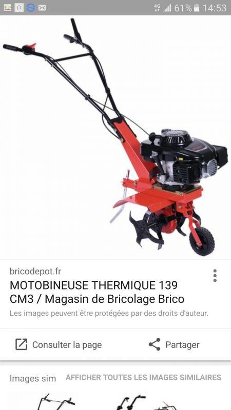 Loue motoculteur 140 cm3 en excellent état