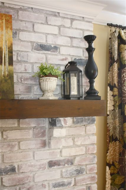 White Washed Brick Fireplace~Tutorial - 25+ Best Ideas About Fireplace Refacing On Pinterest Brick