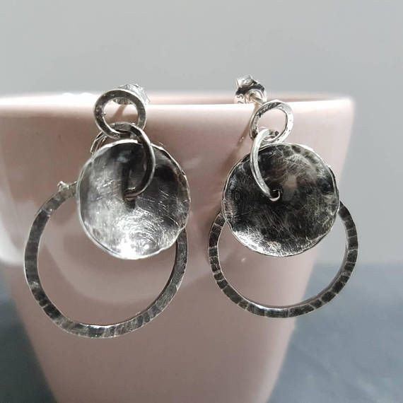 Check out this item in my Etsy shop https://www.etsy.com/listing/557061673/boho-organic-circles-earrings-hammered