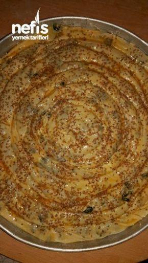 Ispanaklı Börek sirkeli mayalı (el Açması )