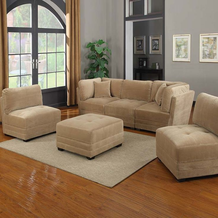 8 piece sectional costco canby 6 piece sectional for Canby 6 piece modular sectional sofa