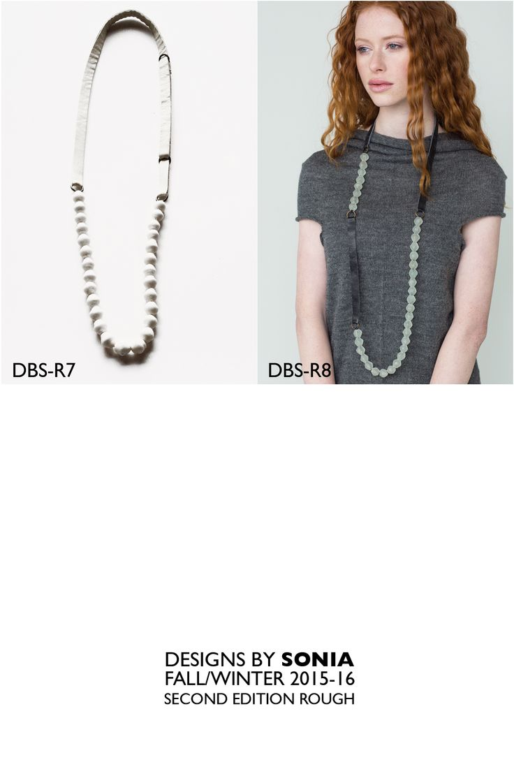 Asymmetrical shape, Glass Beads with Leather, by Designs By Sonia