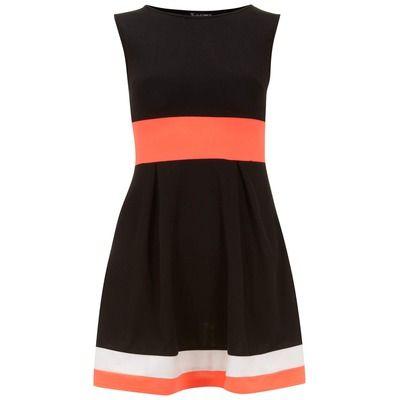 Dorothy Perkins Indulgence Black Skater Dress