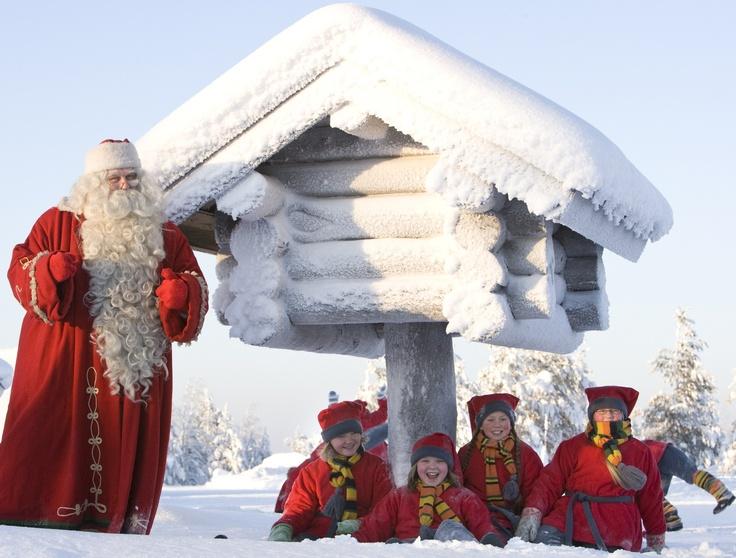 Santa in Rovaniemi, Finland