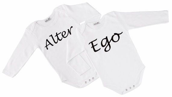 Twin Onesies Alter Ego 2 by myTwinsCollection on Etsy