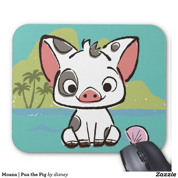 Moana | Pua The Pot Bellied Pig Mouse Pad | Pua, Moana and ...