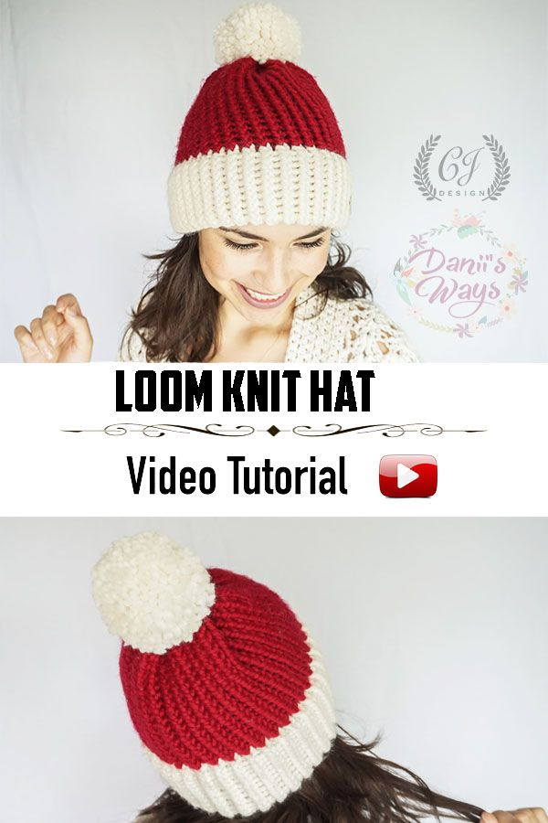 Loom Knitted Hat Super Easy Loom Knit Hat For Beginners Free Video Tutorial With The Step By Loom Knitting Patterns Hat Loom Knit Hat Loom Knitting Patterns