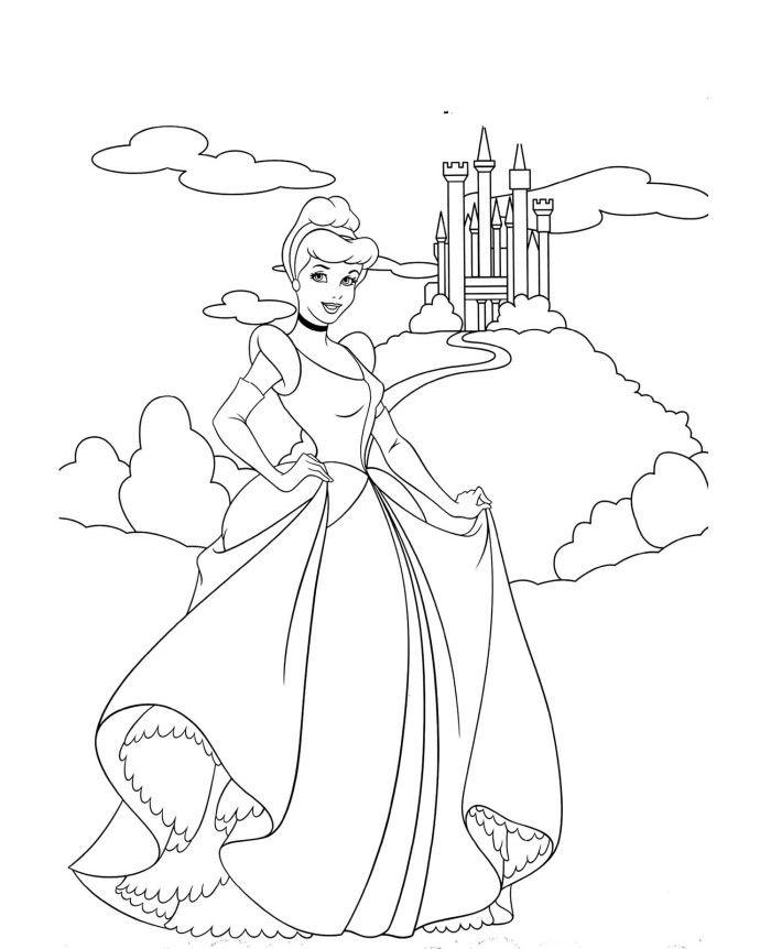 Cinderella Castle Coloring Pages Coloring Pages Pinterest