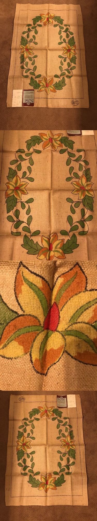 Primitive Hooking Patterns 157031: Hand Tinted Hand Hooking Dritz Floral Lotus Blossom Burlap Rug Pattern 27 X 40 -> BUY IT NOW ONLY: $50 on eBay!