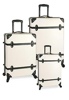 I bought this luggage for my Morocco trip this summer - got compliments from EVERYONE! Diane von Furstenberg Adieu Hardside Spinner Luggage Collection - White