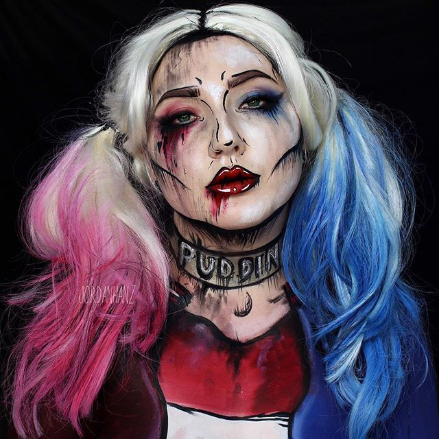 REPOST of my Cell Shaded Harley Quinn in honor of Suicide Squad coming out! The direct link to this tutorial will be up in my bio if you haven't seen her yet! Gonna film a suicide squad joker with someone very soon...can't wait!